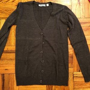 Urban outfitters grey long cardigan size medium